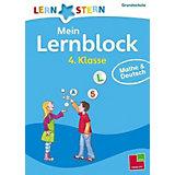Lernstern Mein Lernblock 4. Klasse: Mathe & Deutsch