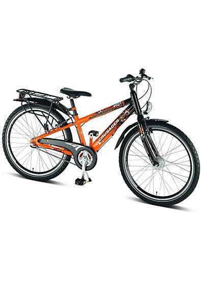 puky fahrrad crusader alu 24 zoll 7 gang orange schwarz. Black Bedroom Furniture Sets. Home Design Ideas