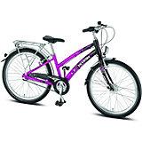 Puky Fahrrad Skyride Alu 24 Zoll, pink/schwarz