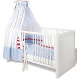 Kinderbett AURA, Fichte vollmassiv, Weiß lasiert, 70 x 140 cm