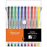 TUKZAR Набор ручек гелевых DUNE, 10 цветов, стандартные и неоновые чернила
