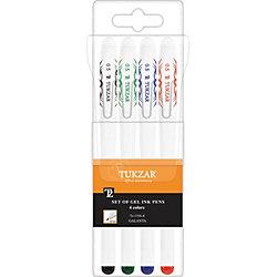 Набор гелевых ручек: 4 цвета, флуоресцентные