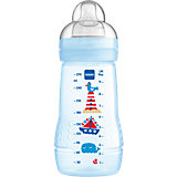 Weithals Flasche Baby Bottle, PP, 270 ml, Silikonsauger, Gr. 2, blau