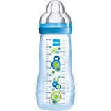 Weithals Flasche Baby Bottle, PP, 330 ml, Silikonsauger, Gr. 3, blau