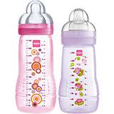 Flaschen Starterset Baby Bottle, PP, Silikonsauger, rosa, 2-tlg.