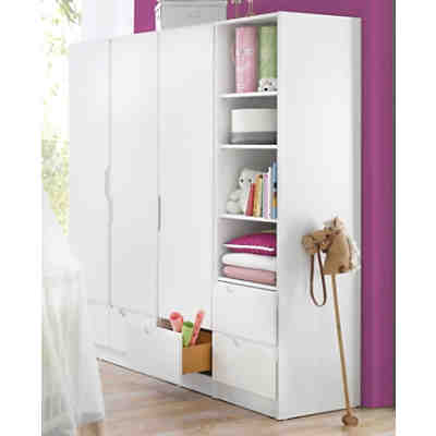 kleiderschrank fresh 3 t rig weiss geuther mytoys. Black Bedroom Furniture Sets. Home Design Ideas