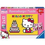 Puzzleset Hello Kitty feiert Geburtstag  2 x 12 Teile