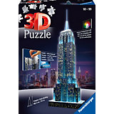 3D Gebäude Puzzle Empire State Building bei Nacht 216 Teile (mit LED Beleuchtung)