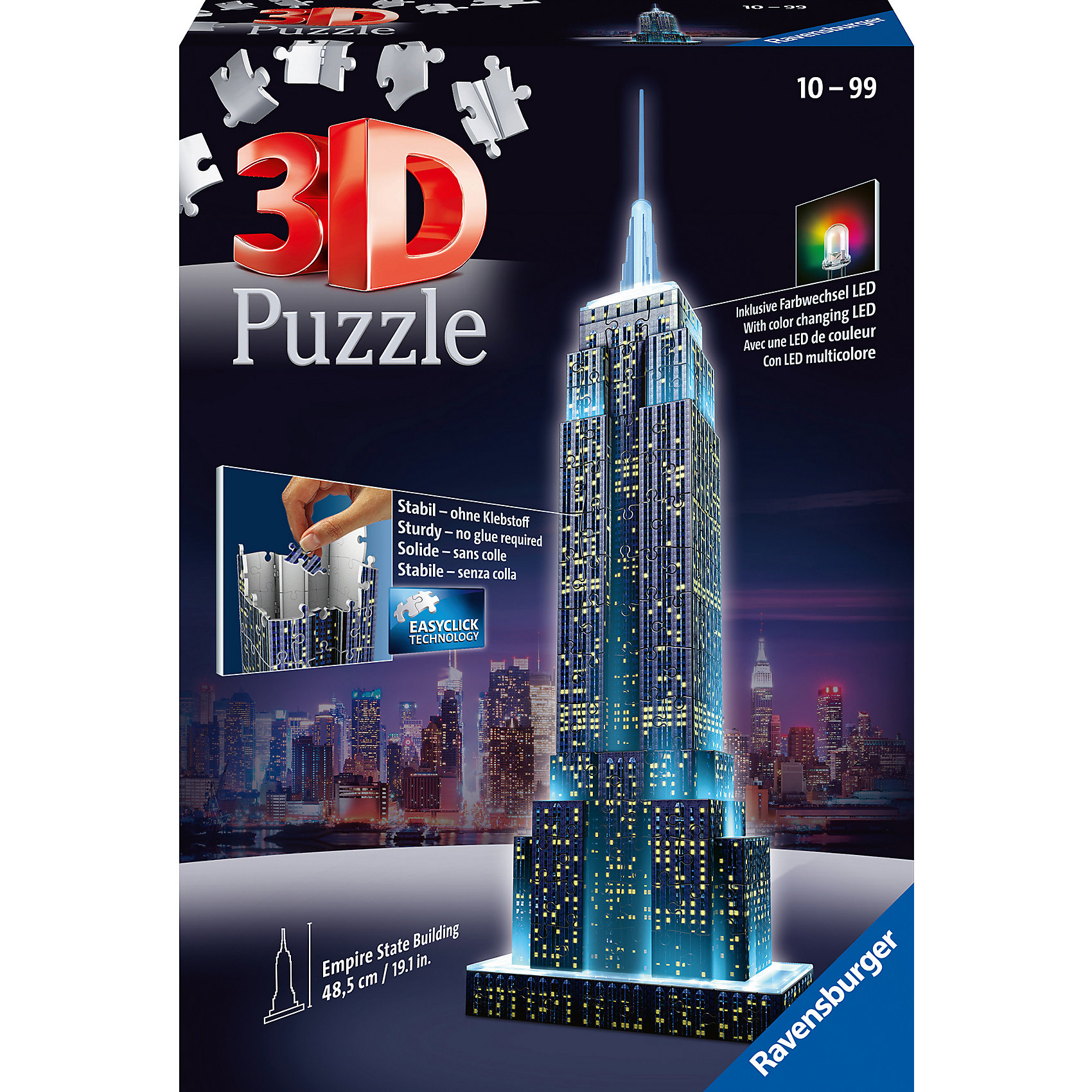 ravensburger empire state building bei nacht preisvergleich 3d puzzle g nstig kaufen bei. Black Bedroom Furniture Sets. Home Design Ideas