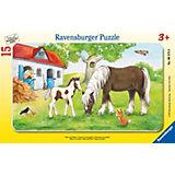 Пазл «Кобыла с жеребенком», 15 деталей, Ravensburger