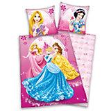 Wende- Kinderbettwäsche Disney Princess, Linon, 135 x 200 cm
