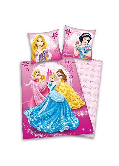 wende kinderbettw sche disney princess linon 135 x 200 cm herding mytoys. Black Bedroom Furniture Sets. Home Design Ideas