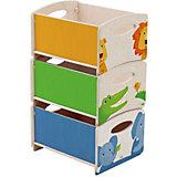Aufbewahrungsboxen, Zoo, 3er Set