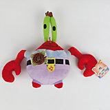 """Мягкая игрушка  Мистер Крабс, со звуком,  20см,  """"Губка Боб"""", МУЛЬТИ-ПУЛЬТИ"""
