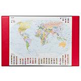 Schreibunterlage, Weltkarte