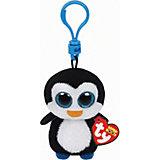 Мягкая игрушка-брелок Ty Inc Beanie Boo's Пингвин Waddles, 8 см