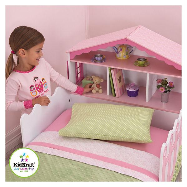 kinderbett mit puppenhaus 70 x 140 cm kidkraft mytoys. Black Bedroom Furniture Sets. Home Design Ideas