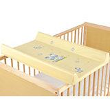 Wickelplatte für Kinderbett, mit 2-Keil Wickelmulde Dschungel