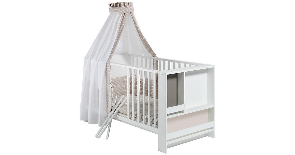 Kinderbett CANDY, weiß/beige/grau, 70 x 140 cm