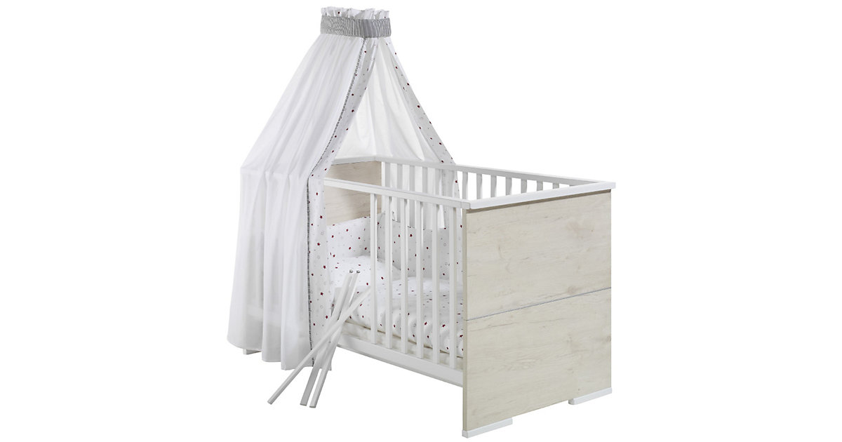 Kinderbett MAXIMO EICHE, lancelot oak/weiß, 70 x 140 cm