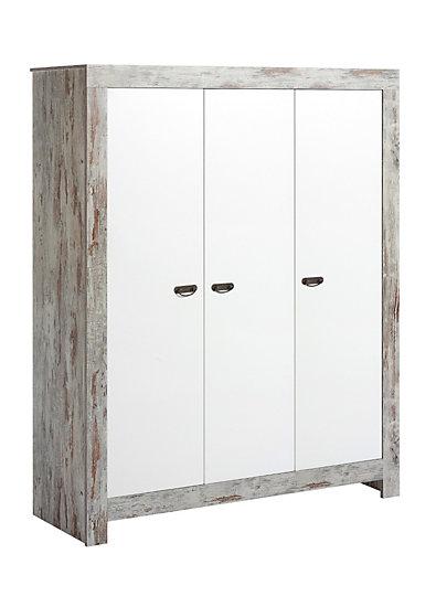 kleiderschrank nordic chic shabby chic wei 3 t rig. Black Bedroom Furniture Sets. Home Design Ideas
