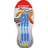 STABILO LeftRight Ручка шариковая marathon, синяя, 3шт.