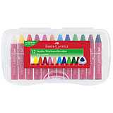 JUMBO Wachsmalkreiden, 12 Farben in Kunststoffbox