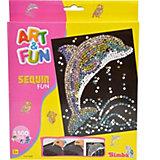 Art & Fun Sequin Fun Delfin