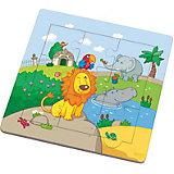 HABA 7637 Holzrahmen-Puzzle Löwenfreunde