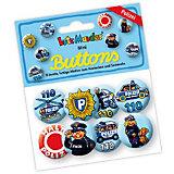 Mini-Button-Set Polizei, 8 Stück