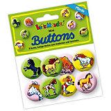 Mini-Button-Set Mein Ponyhof, 8 Stück