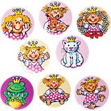 Mini-Button-Set Prinzessin Miabella, 8 Stück