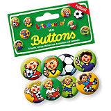 Mini-Button-Set Fußballer Fritz Flanke, 8 Stück