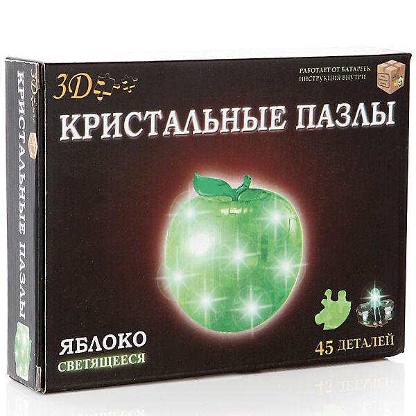 Кристаллический пазл 3D Яблоко, CreativeStudio