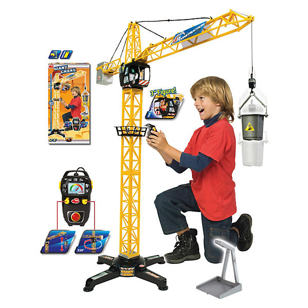 giant crane riesenkran mit kabelsteuerung dickie toys mytoys. Black Bedroom Furniture Sets. Home Design Ideas