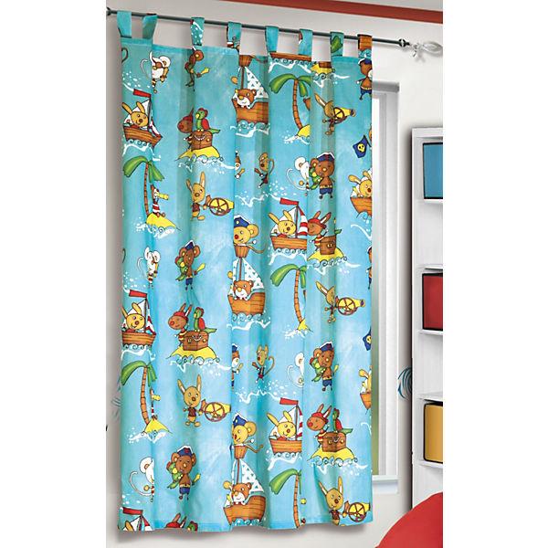 Vorhang piraten 160 x 135 cm bunt 1 schal mytoys for Piraten kinderzimmer