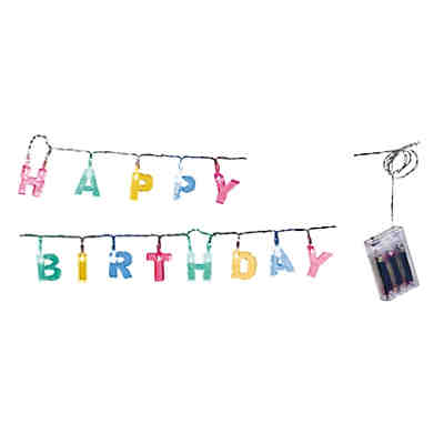 LED-Lichterkette Happy Birthday