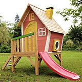 Kinderspielhaus mit Podest und Rutsche Violet