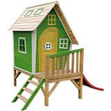 Kinderspielhaus mit Podest und Rutsche Basil