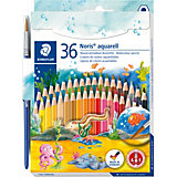 NORIS Club Aquarellfarbstifte, 36 Farben, inkl. Pinsel