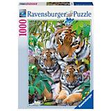Puzzle 1000 Teile - Tigerfamilie