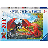 Пазл «Битва драконов» XXL 200 деталей, Ravensburger