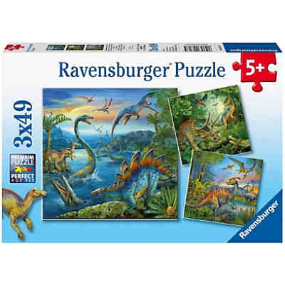 Puzzleset 3x49 Teile - Faszination Dinosaurier