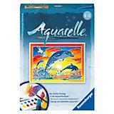 Aquarelle Mini - Spielende Delfine, 8,5x12 cm