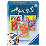 Aquarelle Midi - Schmetterlinge (3 Motive), 18x24 cm