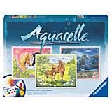 Aquarelle Maxi - Glückliche Pferde (3 Motive), 30x24 cm