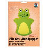 Filz-Set Handpuppe Frosch