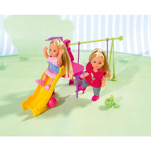 """Набор """"Две Еви на детской игровой площадке"""", Steffi Love"""