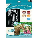 Scraper Kratzbild &Malen nach Zahlen Pferde