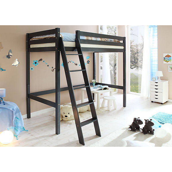 hochbett matthias kiefer massiv lackiert 90 x 200 cm ticaa mytoys. Black Bedroom Furniture Sets. Home Design Ideas